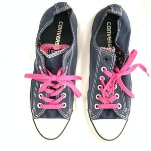 Converse All Stars with Pink Laces Heart Paint 9